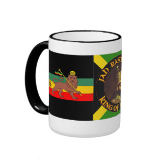 Jah Rastafari - león de Judah - Rasta - taza de