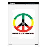 Jah Rastafari Peace Sign Selassie I iPad 3 Decals