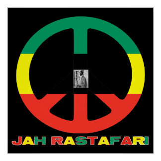 Jah Rastafari Selassie Peace Sign Canvas Print 36