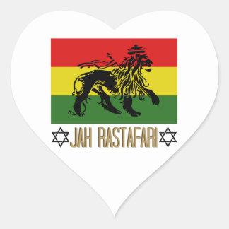 Jah Rastafari Heart Sticker