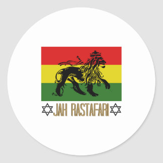 Jah Rastafari Round Sticker