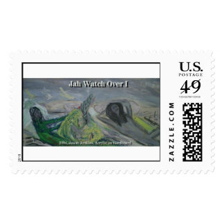 jah watch over i postage stamp