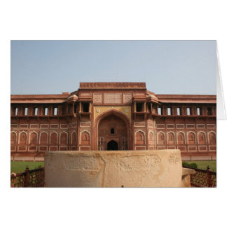 Jahangiri Mahal Red Fort Agra India Card