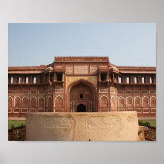Jahangiri Mahal Red Fort Agra India Poster