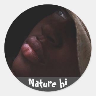 jahjah! classic round sticker