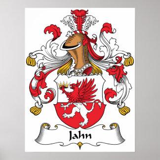 Jahn Family Crest Poster
