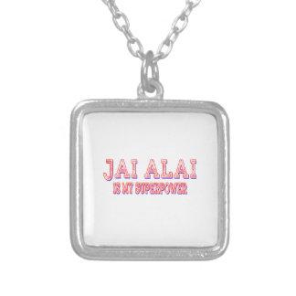 Jai Alai es mi superpotencia Colgantes