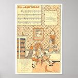 J'ai du bon tabac vintage French music score Poster