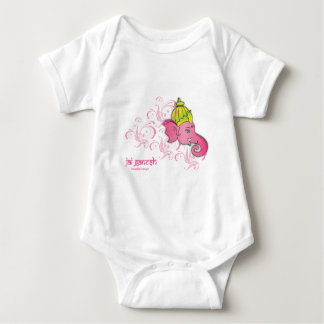 Jai Ganesh Elephant Designs Baby Bodysuit