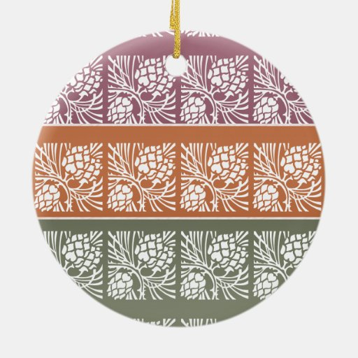 JAI MATA DI - Holistic Patterns n Color Grids Double-Sided Ceramic Round Christmas Ornament