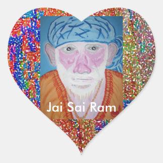 JAI SAI RAM HEART STICKER