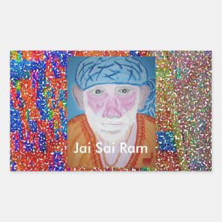 JAI SAI RAM RECTANGULAR STICKER