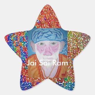 JAI SAI RAM STAR STICKER