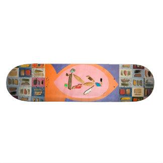 "jai tanju ""just keep going""  board chip art 1 skate board deck"