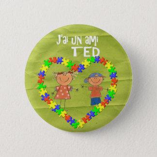 j'ai un ami TED Pinback Button