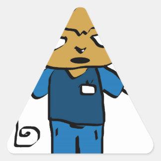 Jaidee-0001, cute cartoon boy triangle sticker