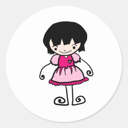 jaidee family classic round sticker