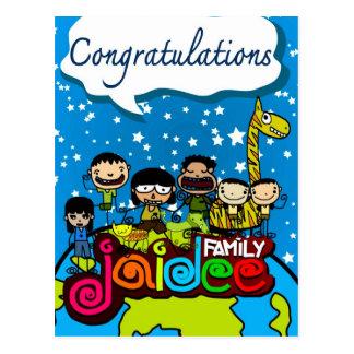 Jaidee family  postcard