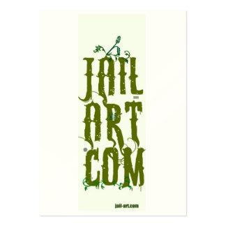 jail-art.com protection sign business card template