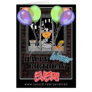 Jail Bird Birthday card