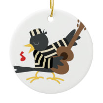 Jail Bird Ceramic Ornament