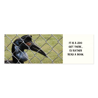 Jail Bird, It is a Zoo Out There bookmark Business Card Templates