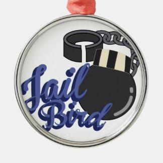 Jail Bird Metal Ornament
