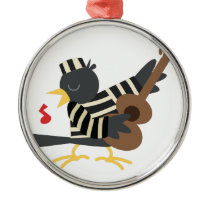 Jail Bird Metal Ornament