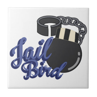 Jail Bird Small Square Tile