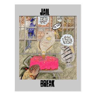 Jail Break Postcard