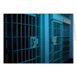 JAIL CELL GREETING CARD