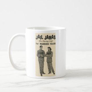 Jail Jamas - the daring gift for married folks! Classic White Coffee Mug