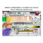 JAIL MAZE:  SOMETHING TO KEEP YOU BUSY! PLA... POST CARDS
