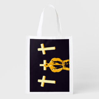 Jail Prison and Religion Christianity as a Concept Reusable Grocery Bag
