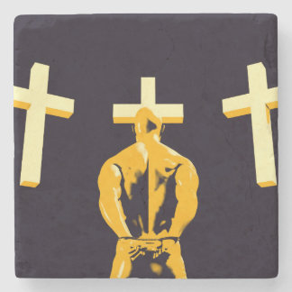Jail Prison and Religion Christianity as a Concept Stone Coaster