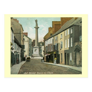 Jail St., Ennis, County Clare, Ireland Vintage Postcard