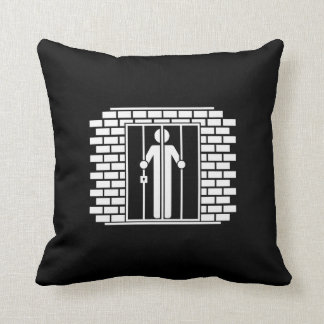 Jail Time I Pictogram Throw Pillow