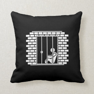 Jail Time II Pictogram Throw Pillow