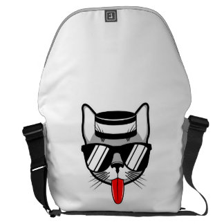 Jailbird Cat Humor Courier Bag