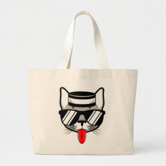 Jailbird Cat Humor Large Tote Bag