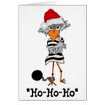 Jailbird Christmas Card