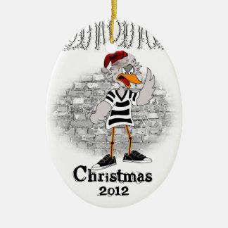 Jailbird Christmas tree ornament