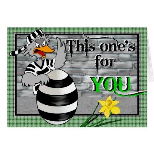 Jailbird de la prisión tarjeta de felicitación