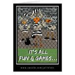 Jailbird Greeting Card:  Fun & Games