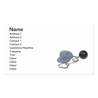 Jailbird Handcuffs Ball Chain Double-Sided Standard Business Cards (Pack Of 100)