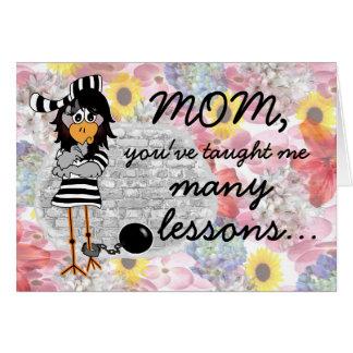 Jailbird Mother's Day card