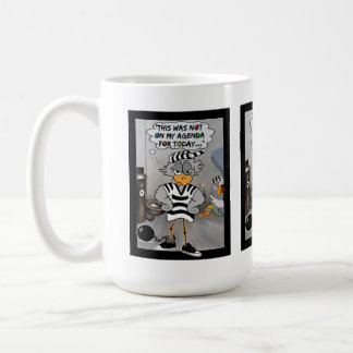 Jailbird mug: Not on my agenda... Classic White Coffee Mug