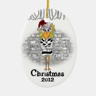 Jailbird ornament (female inmate)