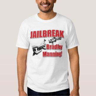 Jailbreak Bradley que sirve la camiseta Remera