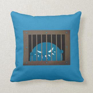 Jailed Kingpin Evil Monster Throw Pillow